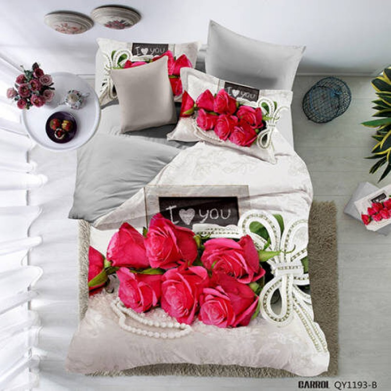 Lenjerie de pat poplin – două persoane (QY-1193)