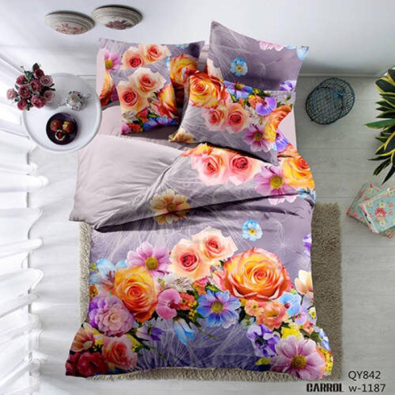 Lenjerie de pat poplin – două persoane (QY-842)